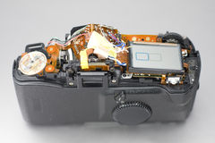 Photo camera beging repaired Royalty Free Stock Photo