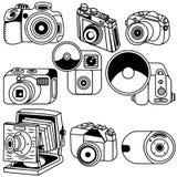 Photo camera black icons 2 Royalty Free Stock Images