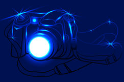 Photo camera. Brilliant photo camera. Vector illustration Stock Image