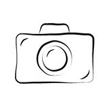 Photo camera doodle icon 1 Stock Photography