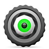 Photo camera eye Royalty Free Stock Images