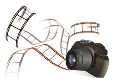 Photo camera and film Stock Photography