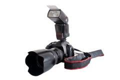 Photo camera and flash Royalty Free Stock Photos