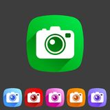 Photo camera flat icon Stock Photos