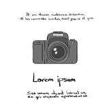 Photo Camera Hand Draw Color Vector Stock Image