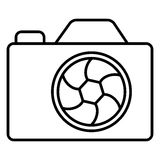 Photo camera icon black contour of vector illustration Royalty Free Stock Images
