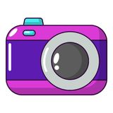 Photo camera icon, cartoon style. Photo camera icon. Cartoon illustration of photo camera vector icon for web Royalty Free Stock Photography