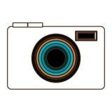 Photo camera icon design, vector graphic Stock Image