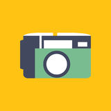 Photo camera icon in flat style. Illustration photo camera icon in flat style Stock Photo