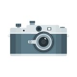 Photo camera icon. Flat vector cartoon illustration. Objects isolated on a white background Stock Photography