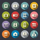Photo camera icon set Stock Images