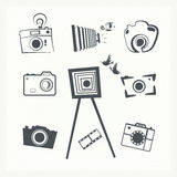 Photo camera icon set. Royalty Free Stock Photo