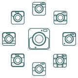 Photo camera icon set for web sites and user interface Stock Photo