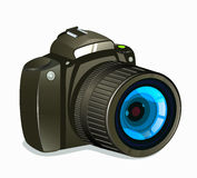 Photo Camera Icon Side View on White Background Royalty Free Stock Image