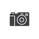 Photo camera icon vector, filled flat sign. Solid pictogram isolated on white. Symbol, logo illustration Royalty Free Stock Photo
