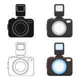 Photo camera icon of vector illustration for web and mobile Stock Photo