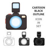 Photo camera icon of vector illustration for web and mobile Royalty Free Stock Images