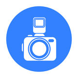 Photo camera icon of vector illustration for web and mobile Stock Photography