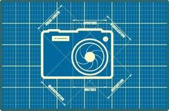 Photo camera icon. Vector. Main parameters Royalty Free Stock Photos