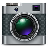 Photo camera icon. Vintage, retro vector design Royalty Free Stock Photo