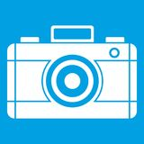 Photo camera icon white Royalty Free Stock Images