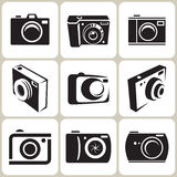 Photo Camera Icons Set Royalty Free Stock Image