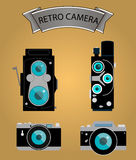 Photo camera icons set in flat style. vector Royalty Free Stock Images