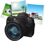 Photo camera illustration Stock Photography