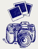 Photo camera illustration Stock Photo