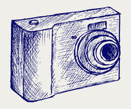 Photo camera illustration Royalty Free Stock Photos