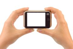Photo Camera In Hands Royalty Free Stock Photo