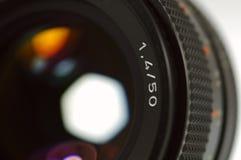 Photo Camera Lens. Close-up. Very Shallow Depth of Field Stock Photos
