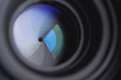 Photo camera lens background Royalty Free Stock Photo