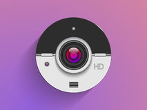 Photo camera lens for photography. Royalty Free Stock Photos