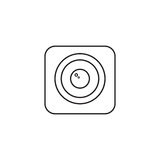 Photo Camera line icon, Modern sign for mobile Royalty Free Stock Image