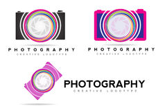 Photo camera logo aperture Stock Image