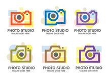 Photo camera logo vector Stock Photos