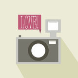 Photo Camera. With love banner abstract background Stock Photography