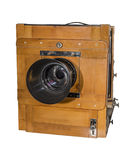 Photo camera an old, wooden, frame size 18 x 24 cm Stock Photo