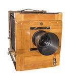 Photo camera an old, wooden, frame size 18 x 24 cm Stock Images