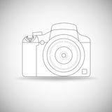 Photo camera outline. Stock Image