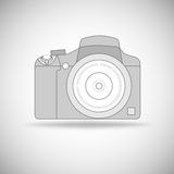 Photo camera outline. Royalty Free Stock Photo