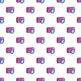 Photo camera pattern, cartoon style Stock Image