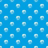 1984 photo camera pattern seamless blue. Repeat for any use vector illustration