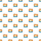 Photo camera pattern seamless. Photo camera pattern in cartoon style. Seamless pattern vector illustration Royalty Free Stock Images