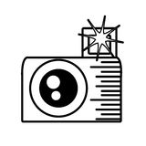 Photo camera picture flash outline Royalty Free Stock Photo