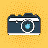 Photo camera pop art icon design graphic Royalty Free Stock Images