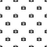 Photo camera retro seamless pattern. Print. Photograph, photo gadget, instant photo, camera, snapshot sign. Decor Royalty Free Stock Images