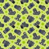 Photo camera seamless pattern Royalty Free Stock Photo