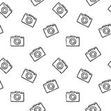 Photo camera seamless pattern.Vector illustration cameras Stock Images